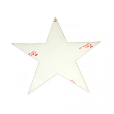"Decal 20"" High White Hood Star  Fits  41-71 Jeep & Willys"