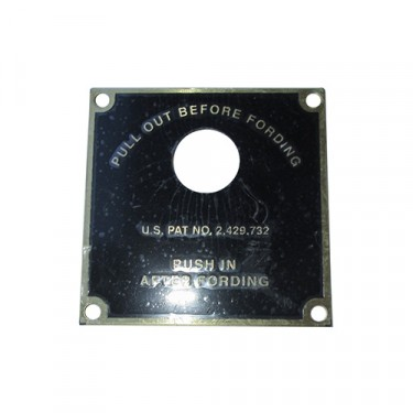 Fording Control Data Plate Fits  50-66 M38, M38A1
