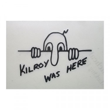 """Kilroy Was Here"" Decal Fits 41-71 Jeep & Willys"