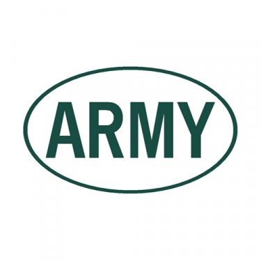 New Army Euro Decal Fits  41-71 Jeep & Willys