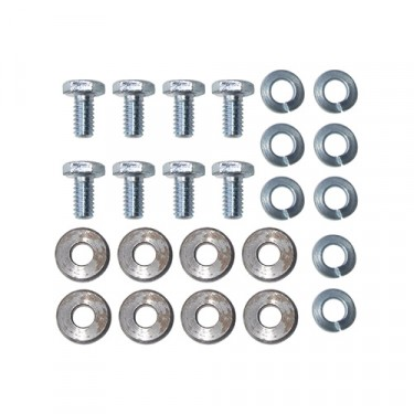 Wheel Cylinder to Backing Plate Hardware Kit Fits  41-71 MB, GPW, CJ-2A, 3A, 3B, 5, M38, M38A1