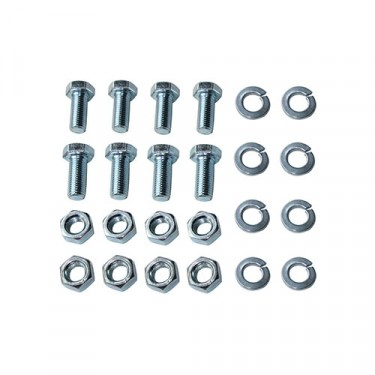 Rubber Axle Bumpers to Frame Hardware Kit Fits 41-71 MB, GPW, CJ-2A, 3A, 3B, 5, M38, M38A1