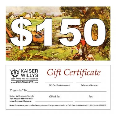 $150 Gift Certificate to Kaiser Willys