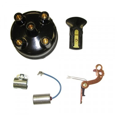 Distributor Rebuild Kit (points, rotor, cap, condensor) Fits 41-45 MB, GPW with 4-134 engine