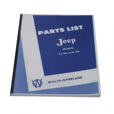 Master Parts List Manual  Fits  46-53 CJ-2A, 3A
