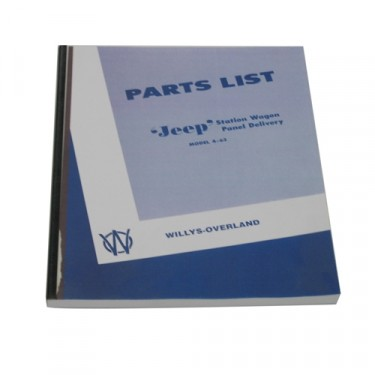 Master Parts List Manual  Fits  46-49 Station Wagon