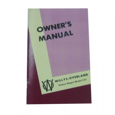 Owners Manual  Fits  46-49 Station Wagon with Planar Suspension (2wd)