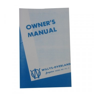 Owners Manual  Fits  48-49 Jeepster