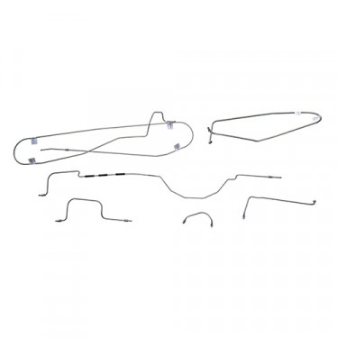 Complete Formed Steel Brake Line Kit Fits  47-55 Jeepster & Station Wagon w/ Planar Suspension