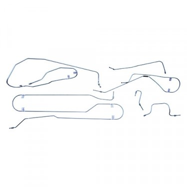 Complete Formed Steel Brake Line Kit (6-226) Fits 54-56 Truck with Timken (clamshell) rear axle