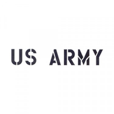 "New Standard 1"" US Army Paint Mask Stencil Fits  41-71 Jeep & Willys"