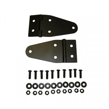 Hood Hinges in Black Powder Coat Fits  55-86 CJ-5