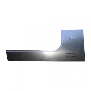 """Front Side Body Panel for Passenger Side """"Jeep"""" Stamped  Fits 52-75 CJ-5, M38A1"""