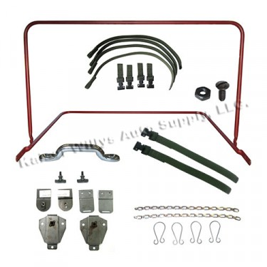 Complete Top Bow Frame Assembly, Bracket & Strap Kit Fits  52-66 M38A1
