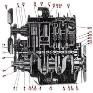 4-134 L Engine - Side View