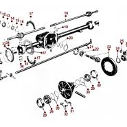 Axle Diagrams - Willys CJ-2A
