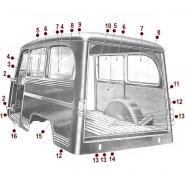 Body Diagrams - Willys Wagon