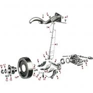 Emergency Brake, Exploded View - 52-71 M38A1