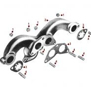 Exhaust Manifold 4-134 F  48-51 Jeepster