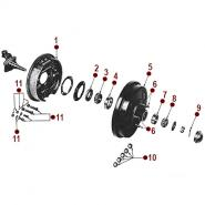 Front Axle - Front Wheel Hub - 2WD Jeepster