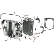 Body - Radiator and Grille - Willys CJ-5, 6