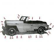 Body - Side View - 48-51 Jeepster