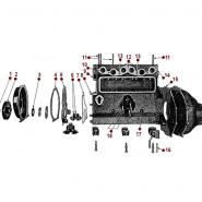 4-134 L Engine - Timing Chain Cover
