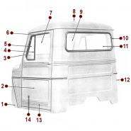 Body Diagrams - Willys Truck
