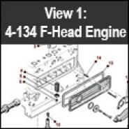 4-134 F Engine - View 1