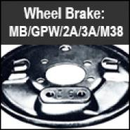 Wheel Brake - MB, GPW, CJ2A, 3A, M38