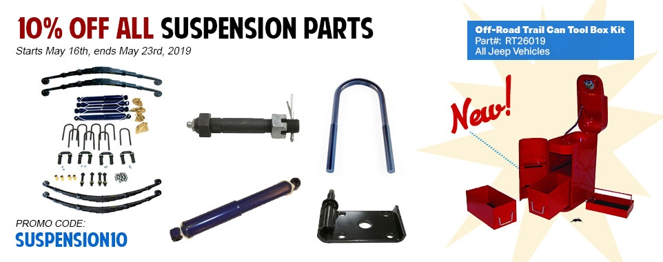 Save 10% Off All Suspension Parts and Kits