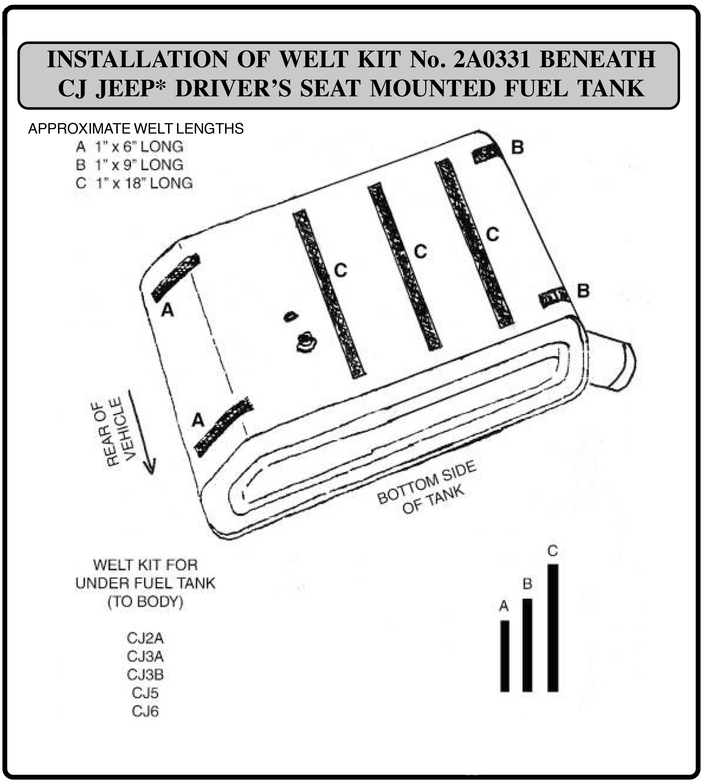 Fuel Tank Anti-Squeak Felt Kit Installation Guide