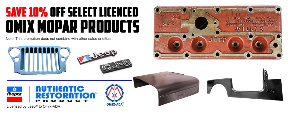 Save 10% Off Select Omix Licensed Products