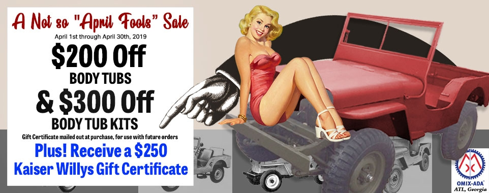 Receive a $250 Gift Certificate to Kaiser Willys