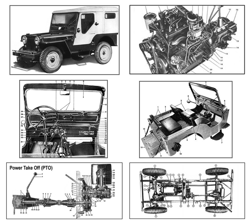 Willys CJ-3A Illustrations