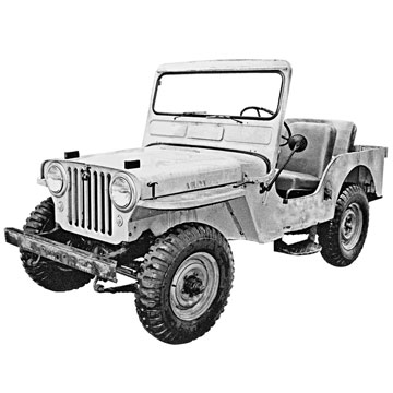 Willys CJ-3A Illustration