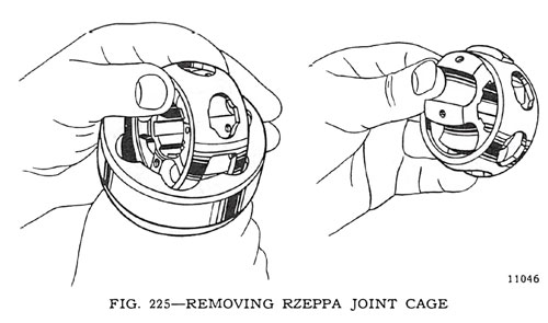 Removing Rzeppa Joint Cage