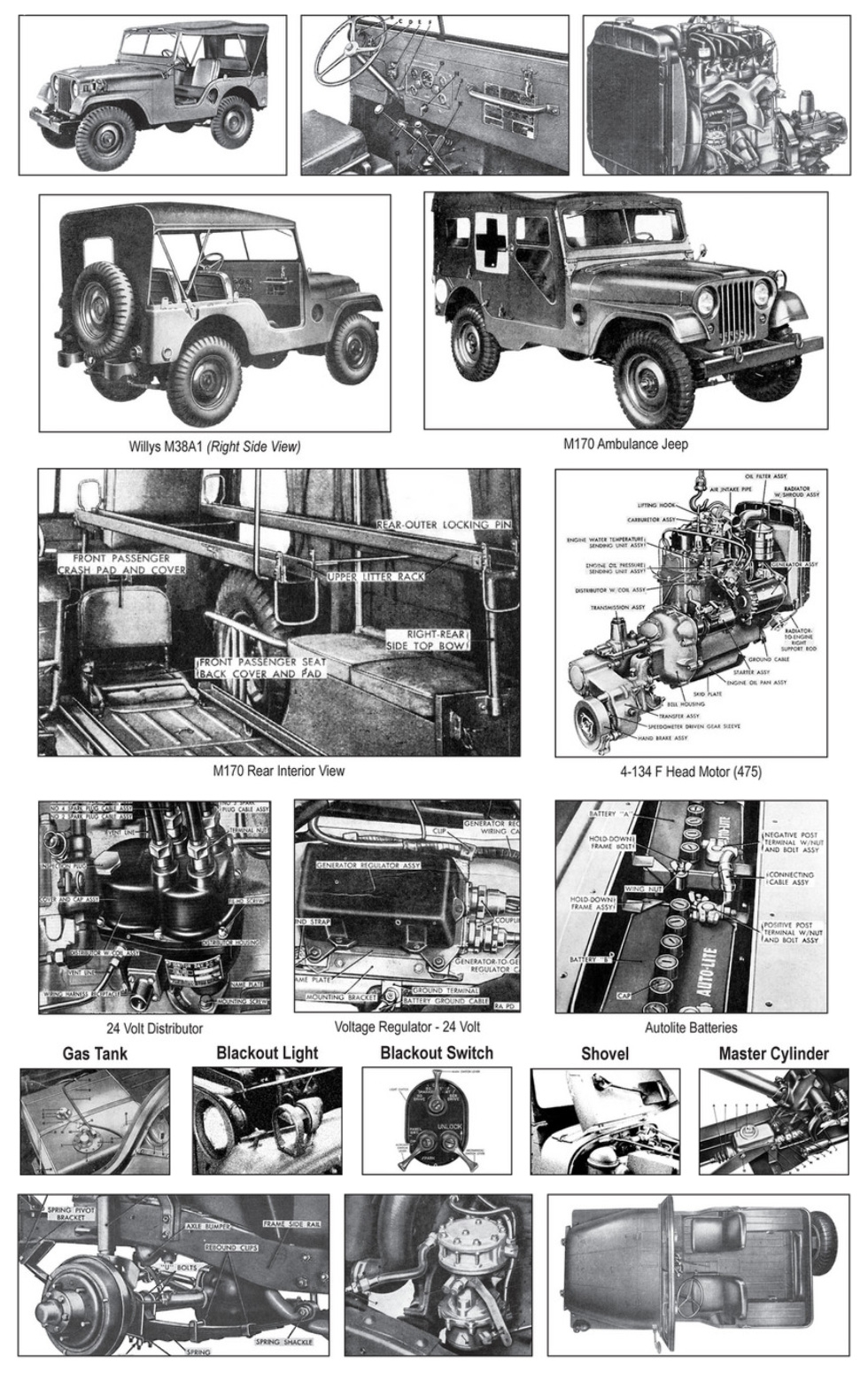 Willys M38A1 Detailed Views