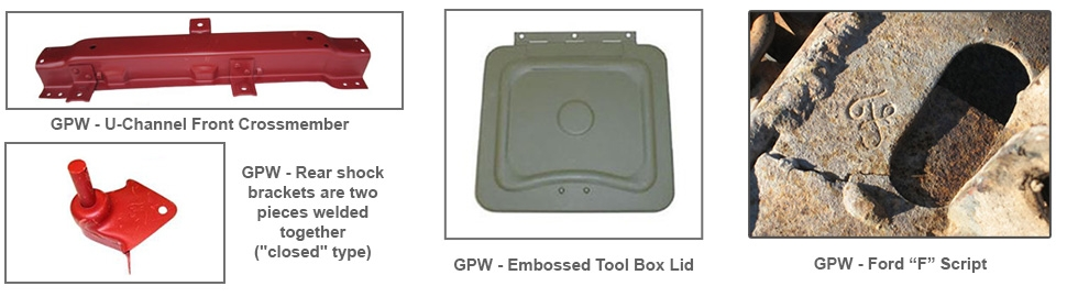 Model Differences: Ford GPW