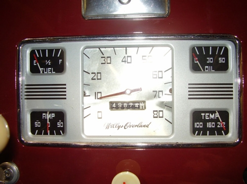 1946-1950 1/2 Instrument Cluster Configuration