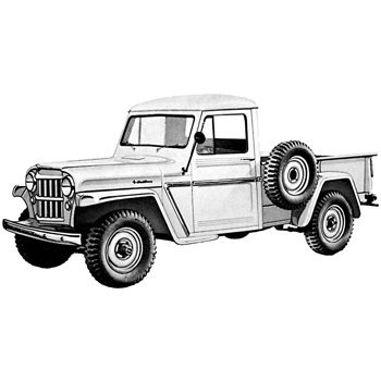 55 willys jeep wiring diagram 1946 1964 truck general specs  1946 1964 truck general specs