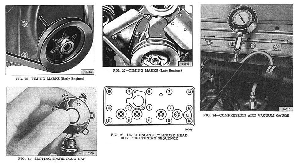 4-134 L Engine Tune Up Specifications - M38
