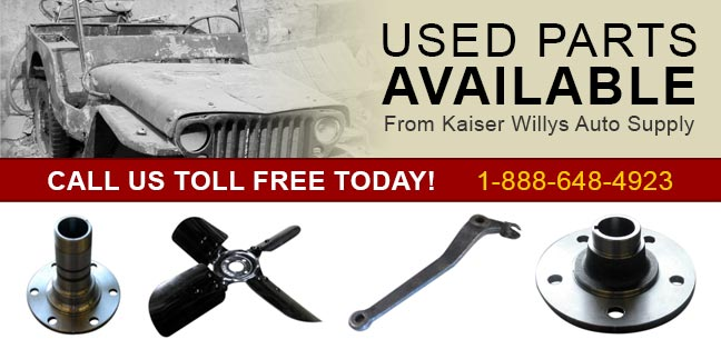 Used Jeep parts from Kaiser Willys Auto Supply