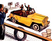 Willys Jeepster Illustration