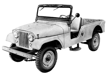 CJ-6 Jeep Front View